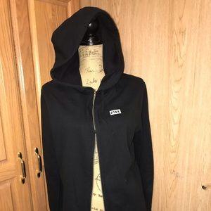 Pink Victoria Secret zippered hoodie S black